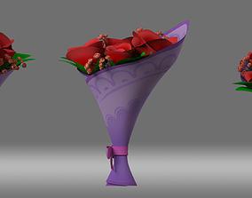 cartoon Bouquet flower 3D model