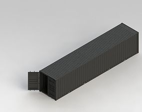 40ft Container 3D 20ft