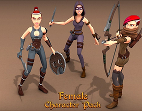 Female Character Pack 3D asset