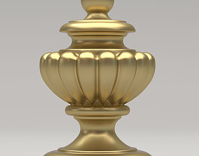 Carved Finial 3D model cnc