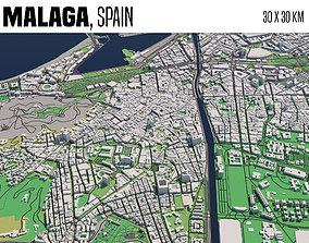 travel 3D model Malaga Spain