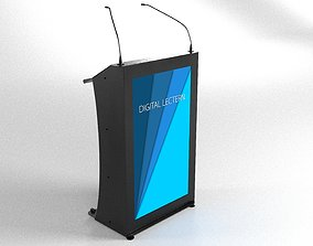 3D Digital lectern podium