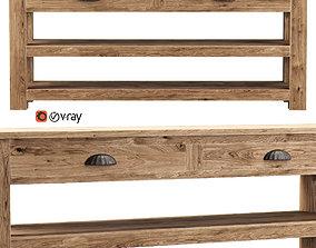 Morgan wooden console 3D model