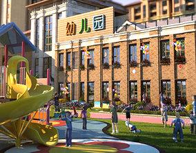 Children amusement park 14 3D