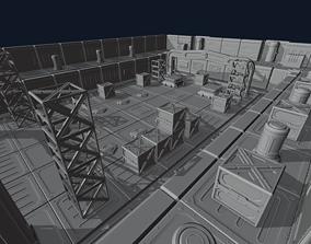 technology 3D model SciFi elements set