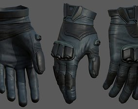 3D model Gloves military combat soldier armor scifi low