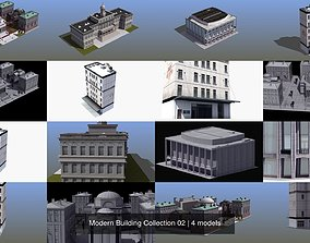 3D Modern Building Collection 02