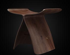 Butterfly stool 3D