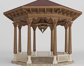 Uzbek national alcove architectural 3D model