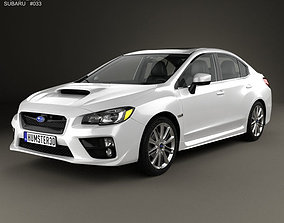 3D model Subaru WRX with HQ interior 2014 impreza
