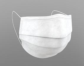 3D model White medical mask