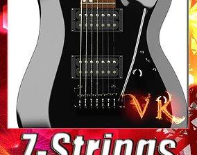 Electric Guitar 7 Strings High Detail 3D