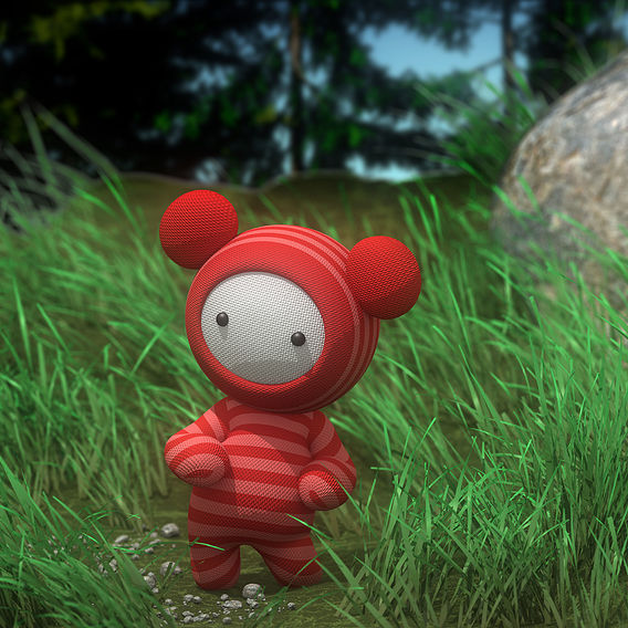 Doll in the meadow