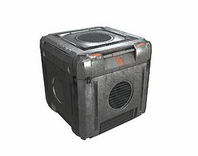 3D model Sci Fi cargo crate 3 PBR