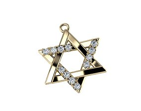 3D print model jewelry Star pendant