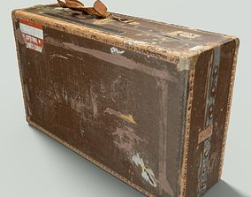 Vintage Suitcase Retro 3D asset game-ready