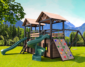 3D model children Children playground
