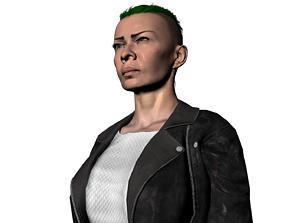 3D model Grace Viper gang member black dogs