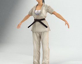 3D Karate Lady Not Rigged