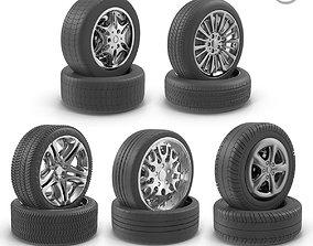 3D asset realtime 5 wheels