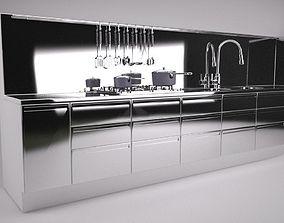 Pre Built Kitchen Unit 3D model