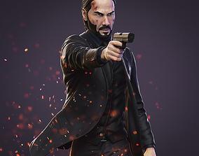 gun John Wick 3D Model