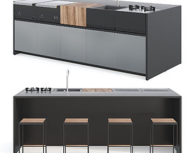 3D model Roshults Outdoor Kitchen Set 01 lounge
