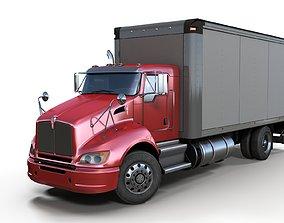 3D asset Kenworth t370 box truck