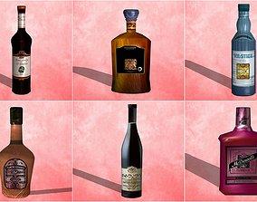 Pack bottle drink 01-06 - 6 model 3D asset