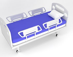 operation hospital bed 3d model low-poly