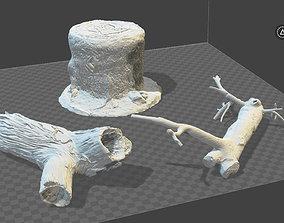 3 x tree trunks or stumps 3D printable model