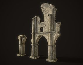 Ancient Cathedral Ruins 3D model game-ready
