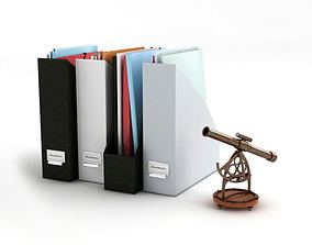 Black And Gray File Holders 3D