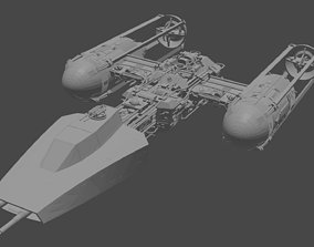 Y-wing starfighter 3D print model