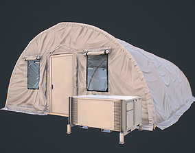 3D model Modern Military Tent Videogame Asset