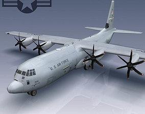 3D asset USAF C-130J Super Hercules