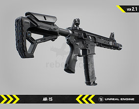 3D asset AR15 - Animated FPS Weapon for Unreal