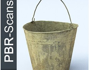 Dirty Bucket Middle Poly 3D