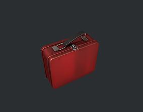3D asset Red Tin Lunchbox