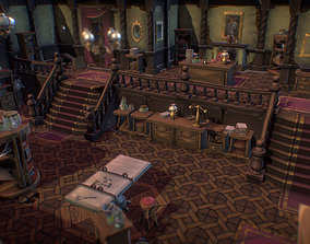 3D asset VR / AR ready Haunted Mansion Set