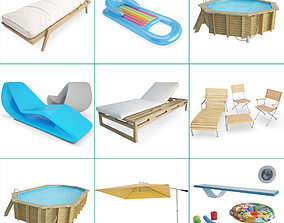 Swimming Pool and Accessories Collection 3D