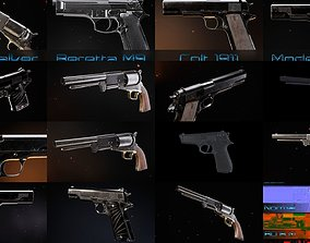 Pistols 3D model