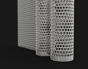 3D model machine metal grate