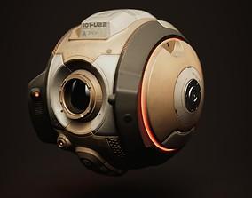 3D asset Sci-fi Service Drone