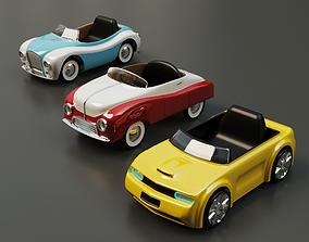 kids cars 3D model