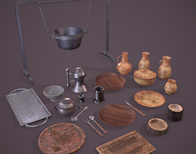3D model Medieval Dishes