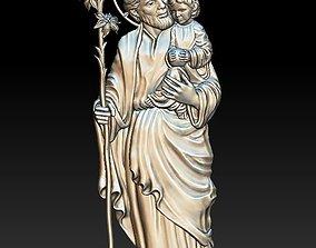 Saint Joseph - relief - 2020 3D print model
