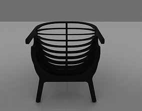 garden armchair 3D model lowpoly