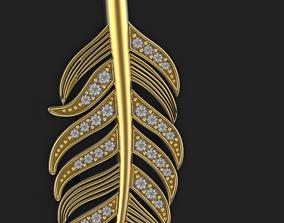 gem 3D printable model Wing pendant