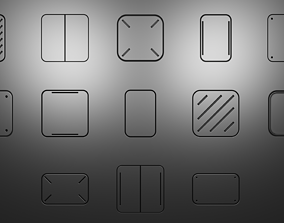Simple Panels - Decal Pack 3D asset